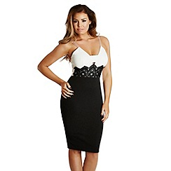 Jessica Wright - Monochrome 'Stephanie' lace trim cami dress