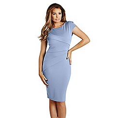 Jessica Wright - Pale blue 'Vicky' pleated bodycon dress