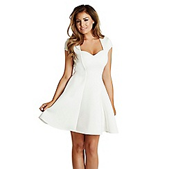 Jessica Wright for Sistaglam - White 'Mollie' scuba skater dress