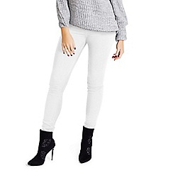 Jessica Wright - White 'Jenine' denim high waisted skinny jeans
