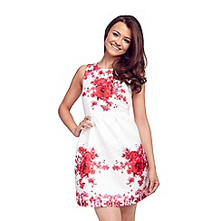 Sistaglam - Floral 'May' textured print prom dress