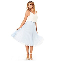 Jessica Wright - Pale Blue 'Leora' pleated midi skirt