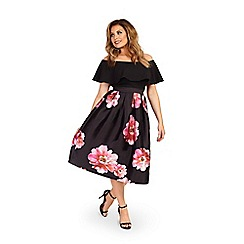 Jessica Wright for Sistaglam - Black 'Alexus' floral prom skirt