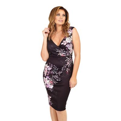Jessica Wright for Sistaglam Black Kacey floral print