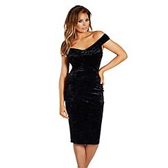 Jessica Wright for Sistaglam - Black 'Joanna' velvet bodycon dress