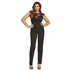 Jessica Wright for Sistaglam - Black 'Blair' lace overlay jumpsuit