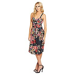 Sistaglam - Floral 'Malika' cami strap prom dress