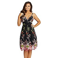 Jessica Wright for Sistaglam - Black' Palma' embroidered prom dress