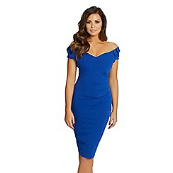 Jessica Wright for Sistaglam - Cobalt 'Cassidy' ruched bodycon dress