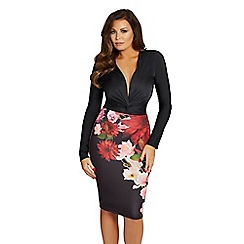 Jessica Wright for Sistaglam - Floral 'Bobbi' bodycon pencil skirt