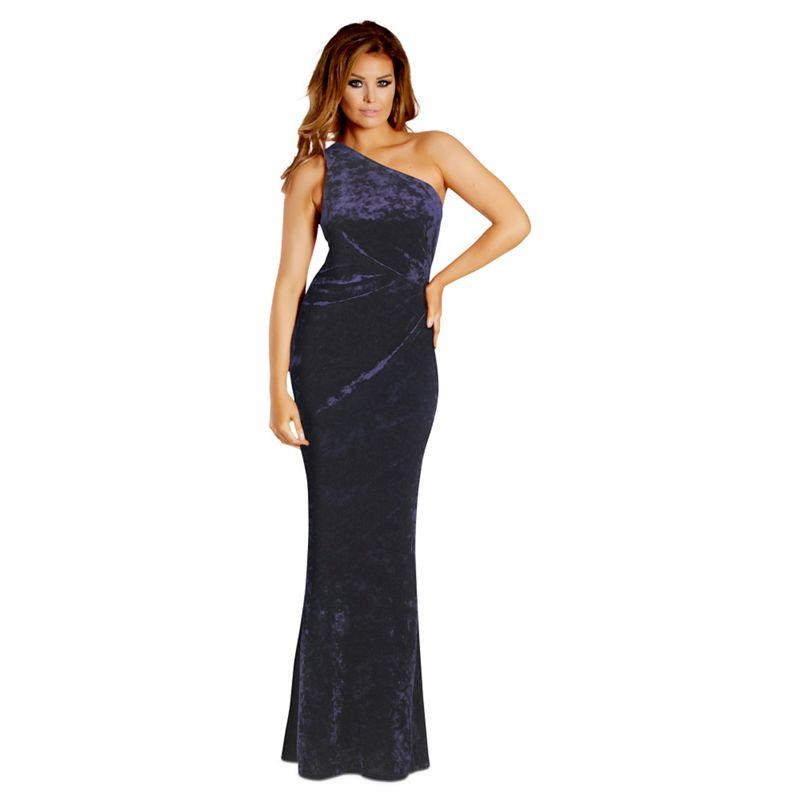 Jessica Wright for Sistaglam Navy Aleeca velvet one