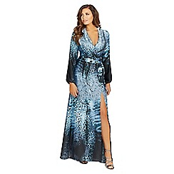 Jessica Wright for Sistaglam - Navy 'Bluebell' silk maxi dress