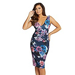 Jessica Wright for Sistaglam - Floral 'Cindy' bodycon pleat dress