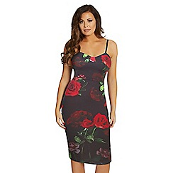 Jessica Wright for Sistaglam - Black and red 'Tessy' floral dress