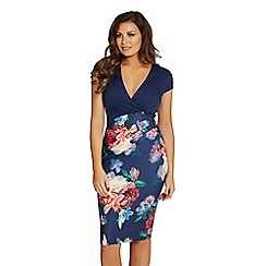 Jessica Wright for Sistaglam - Multicolour 'Jolie' floral bodycon dress
