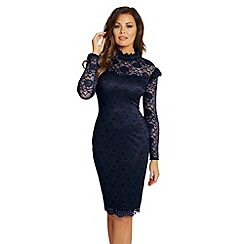 Jessica Wright for Sistaglam - Navy 'Kennie' lace bodycon dress
