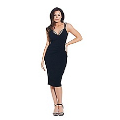 Jessica Wright for Sistaglam - Black 'Amora' midi dress