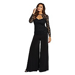 Jessica Wright for Sistaglam - Black 'Keera' wide leg trousers