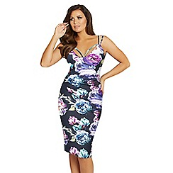 Jessica Wright for Sistaglam - Floral 'Emelli' bodycon dress
