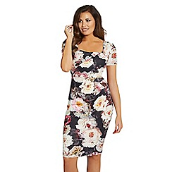 Jessica Wright for Sistaglam - White 'Elsa' floral multi midi dress