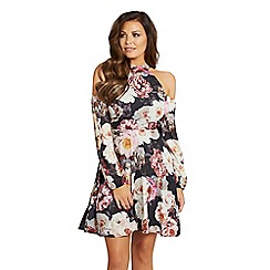 Jessica Wright for Sistaglam - Multicolour 'Violet' floral shift dress