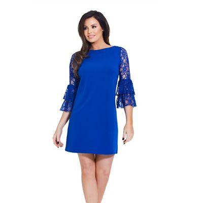 Jessica Wright for Sistaglam Cobalt Mellina frill sleeve shift dress - . -