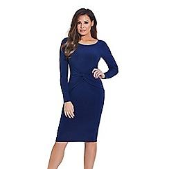 Jessica Wright for Sistaglam - Navy 'Lauren' bodycon midi dress