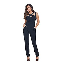 Jessica Wright for Sistaglam - Black 'Krystal' cut out jumpsuit