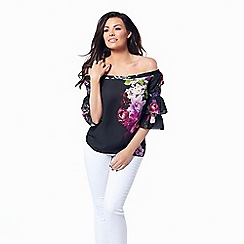 Jessica Wright for Sistaglam - Floral 'Flissy' bardot top