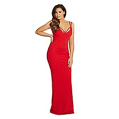 Jessica Wright for Sistaglam - Red 'Jez' jersey maxi dress