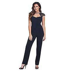 Jessica Wright for Sistaglam - Black 'Clancy' lace sweetheart jumpsuit