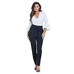 Jessica Wright for Sistaglam - White 'Saskia' ruffle sleeves blouse