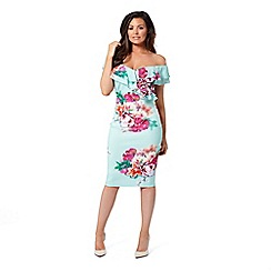 Jessica Wright for Sistaglam - Mint 'Summer' floral bodycon dress