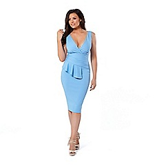 Jessica Wright for Sistaglam - Cornflower 'Keeley' blue bodycon dress