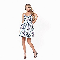 Sistaglam - Sistaglam 'Lillian' multicolour floral satin look cami dress