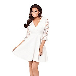 Jessica Wright for Sistaglam - White 'Tammy' skater dress