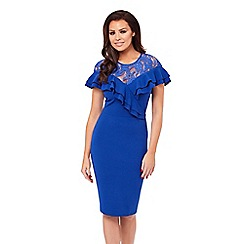 Jessica Wright for Sistaglam - 'Kiona' lace detail frill bodycon dress