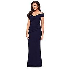 Jessica Wright for Sistaglam - Navy 'Marina' bardot maxi dress