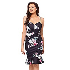 Jessica Wright for Sistaglam - Multicoloured 'Hallie' floral bodycon dress