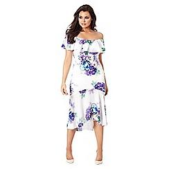 Jessica Wright for Sistaglam - Multicolour 'Della' floral off the shoulder dress