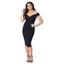 Jessica Wright for Sistaglam - Black 'Carolina' bardot bodycon dress