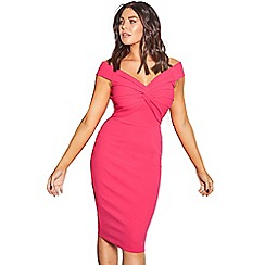 Jessica Wright for Sistaglam - Pink 'Carolina' bardot bodycon dress