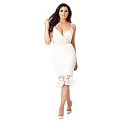Jessica Wright for Sistaglam - Cream 'Matilda' lace skirt