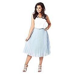 Jessica Wright for Sistaglam - Blue 'Leora' pleated midi skirt