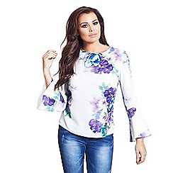 Jessica Wright for Sistaglam - White 'Tessa' floral blouse