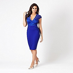 Jessica Wright for Sistaglam - Cobalt 'Debbie' lace bodycon dress