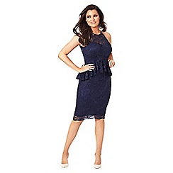 Jessica Wright for Sistaglam - Navy 'Selina' lace midi dress