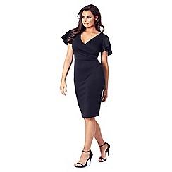 Jessica Wright for Sistaglam - Black 'Tinka' v-neck bodycon dress