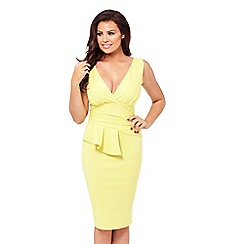 Jessica Wright for Sistaglam - Yellow 'Keeley' bodycon dress