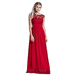 Sistaglam - Red 'Beverley' embellished maxi dress